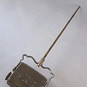 """Early Ornate 1"""" Metal Carpet Sweeper Dollhouse Accessory"""
