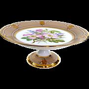 Ed. Honore Porcelain  19th Century Old Paris Porcelain Floral Gilt Tazza
