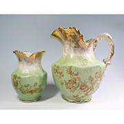 Victorian Chamber Set Pieces Pitcher and Vase