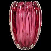 Alfredo Barbini Vase Venetian Murano Glass Barbini 1950s