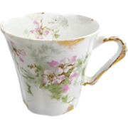 SALE Haviland Limoges Demitasse Chocolate Cup With Cherry Blossoms
