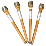 Primitive Wood Spools  4 Antique Wood Thread Holders