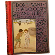 "SALE Altemus  "" I Don't Want to Wear Coats and Things"" 1923"