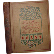 """SALE """"Five Mice in a Mouse Trap by The Man in The Moon"""", Laura E. Richards"""