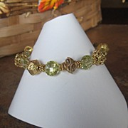 Royalty Collection~Lemon Quartz Vermeil Bracelet