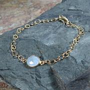 SALE YEAR END SALE Moonstone Quartz Cabochon Gemstone Bracelet