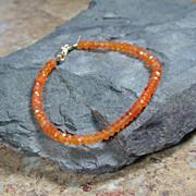 SALE Carnelian Gemstone Summer Layering Gold Filled Bracelet
