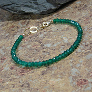 SALE Green Onyx Gemstone Summer Layering Gold Bracelet
