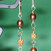 SALE Freshwater Pearl Vermeil Earrings