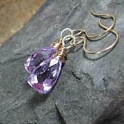 SALE Lilac Quartz Drop Earrings