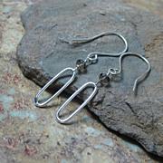 SALE 50% OFF SALE Smokey Quartz Sterling Dangle Earrings