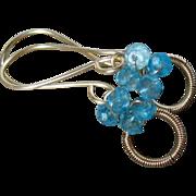 """SALE Blue Topaz """"Sweet Petites"""" Gold Filled Earrings"""