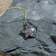 SALE PENDING Pave Diamond Star Pendant Sterling Silver