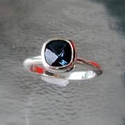 SALE London Blue Gemstone Stacking Ring - Sterling Size 6.25