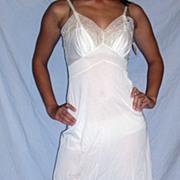1950 Vintage Rhythm Lingerie white full slip NEW NWT size 32 - 34