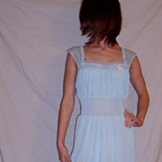 Vintage 1960 Star Blue  Lorraine  Nightgown size 36 NEW NWT NOS