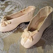 Elegant White Kid Slippers for French Fashion