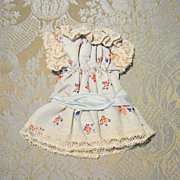 """SOLD Sweet Mignonette Cotton Dress for 7"""" Doll - Red Tag Sale Item"""