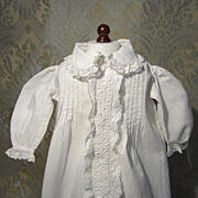 Nightgown for French Bebe or Larger Fashion - White Cotton and Lace