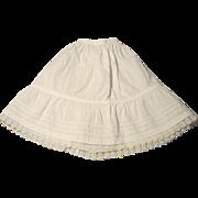Fancy Flounced Petticoat for French Fashion