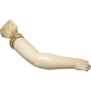 Replacement Porcelain Arm for Rohmer or Other French China Head Doll