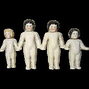 SOLD 4 Frozen Charlotte Bottle Dolls - Antique
