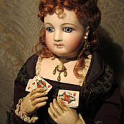 Tin of Miniature Antique Mounted Playing Cards for French Fashion