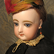 """16"""" FG French Fashion Doll In Black Silk Gown - SALE PRICE"""