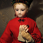 Lovely White Kid Gloves With Red Stitching for French Fashion