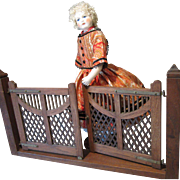 Wooden Gate - Antique Salesman's Sample - For Doll Display