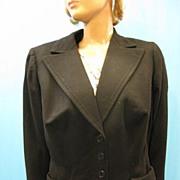 B2657 Vintage Jacket Wool w silk lining 1940s era