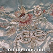 SALE PENDING Vintage pillowcase elaborate chenille embroidery silk 1920s