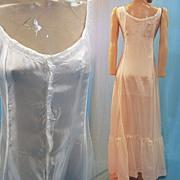 Antique chemise silk combination petticoat Victorian era