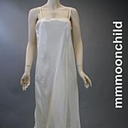 Vintage slip bridal rayon taffeta 1970s