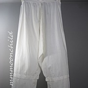 Antique Victorian Long Cotton Pantaloons HM4