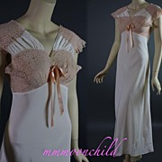 Vintage 1930s nightgown rayon Size 34