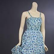 Vintage sun dress 1950s swing time Leslie Fay Original