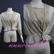 Vintage Edwardian era Silk Waist HM51