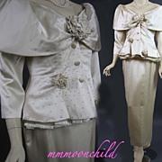 Vintage dress 1960s Bombshell cocktail wiggle silk bridal