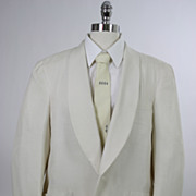 SOLD Vintage 60s mens jacket Brooks Bros Silk Tuxedo Dinner Sz 44R