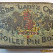 The Lady's Own Toilet Pin Tin -Circa Early 1900's.