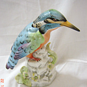 Gorgeous Porcelain Kingfisher Ornament