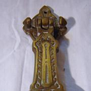 SOLD Victorian Art Nouveau Brass Door Knocker Circa 1880-1890
