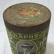 Pathe Freres London Phonographs Canister / Tin - Circa 1900-1910