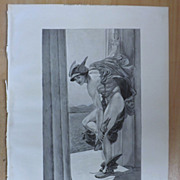 HERMES -Full Page Engraving From The Graphic 1887