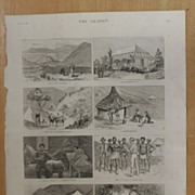 Recent Gold Discoveries In The Transvaal -The Graphic 1887