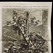 WWI 'The Zeebrugge Raid - HMS Vindictive -Illustrated London News 1918