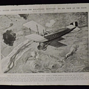 SOLD WWI - British Aeroplane Over Montello -Illustrated London News 1918