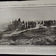 WWI - German U-BOAT Surrenders - Illustrated London News 1918