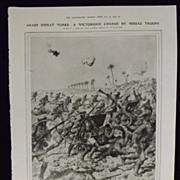 WWI - Arabs Defeat Turks - Illustrated London News 1918